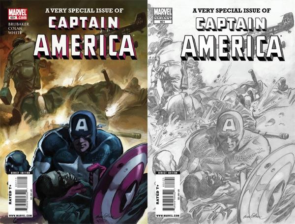 Captain America 601 covers