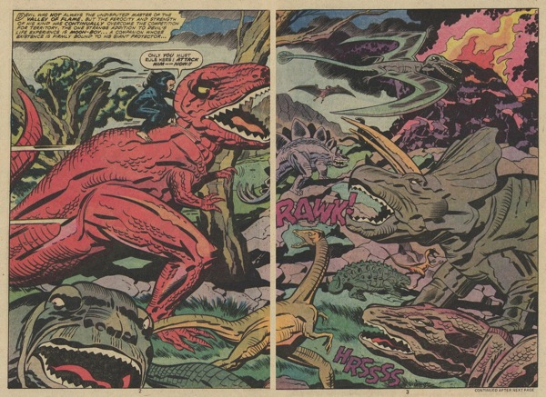 Devil Dinosaur 2 page splash