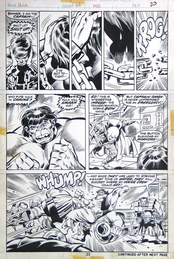 Herb Trimpe - Incredible Hulk 164 page 23, June 1973