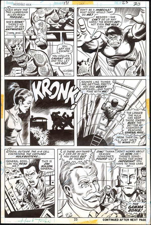 Trimpe and Abel - IncredibleHulk 171 page 23