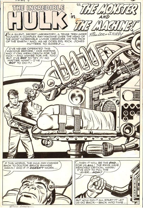 Jack Kirby - Incredible Hulk 4, 1962