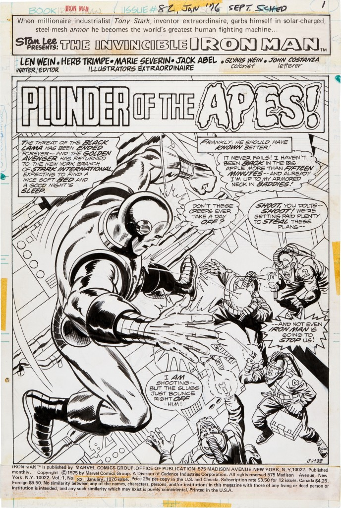 Iron Man 82 page 1 - original art by Trimpe, Severin, maybe Abel