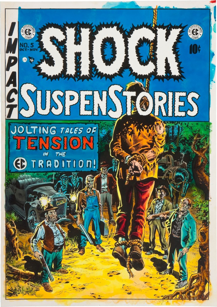 Shock SuspenStories 5 color guide by Marie Severin